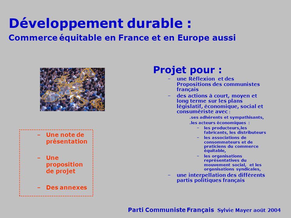 Développement durable : Commerce équitable en France et en Europe aussi