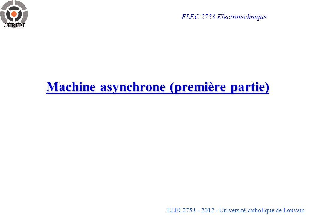Machine asynchrone (première partie)