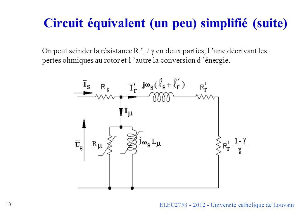 Circuit équivalent (un peu) simplifié (suite)