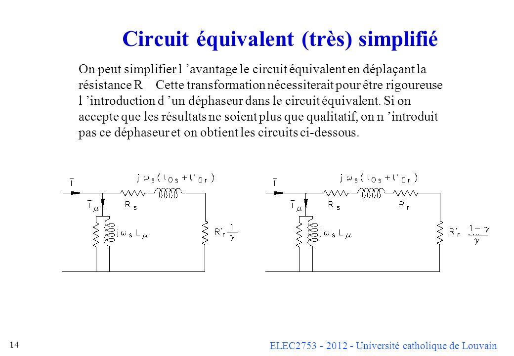 Circuit équivalent (très) simplifié