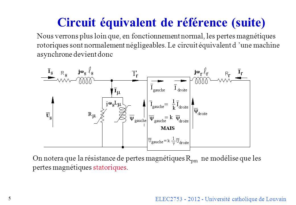 Circuit équivalent de référence (suite)