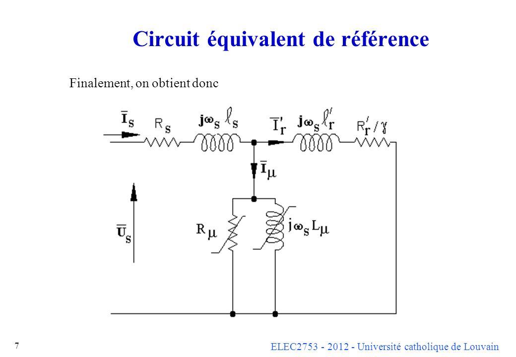 Circuit équivalent de référence