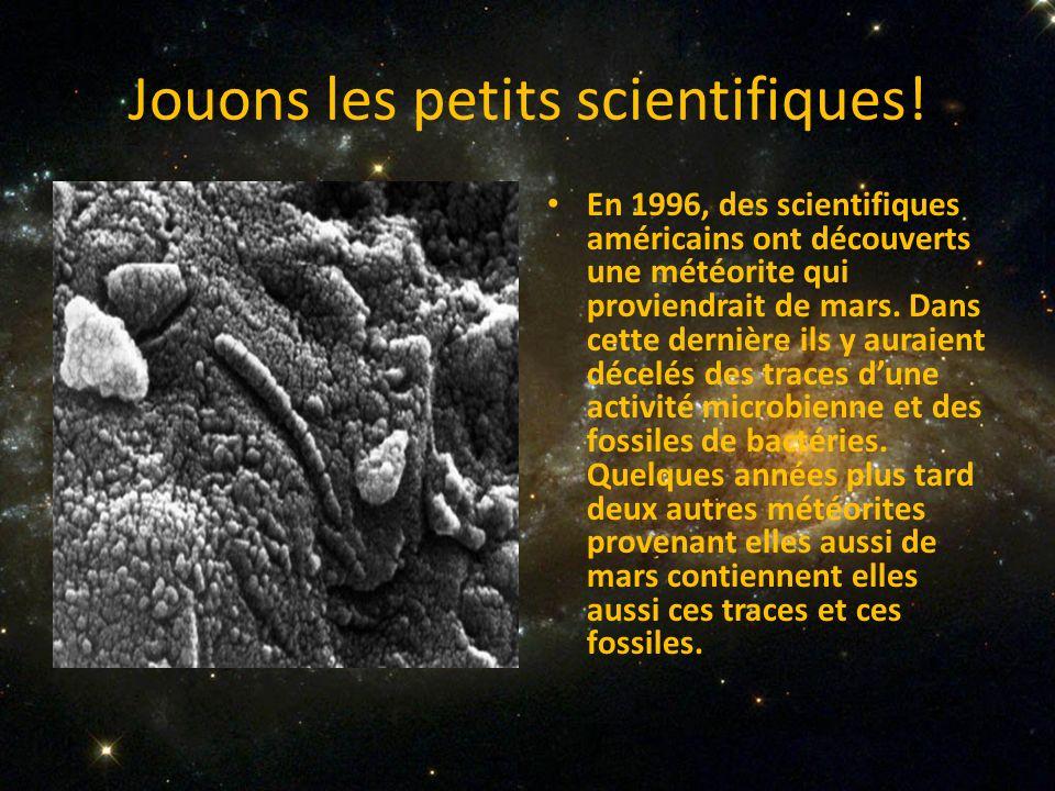 Jouons les petits scientifiques!
