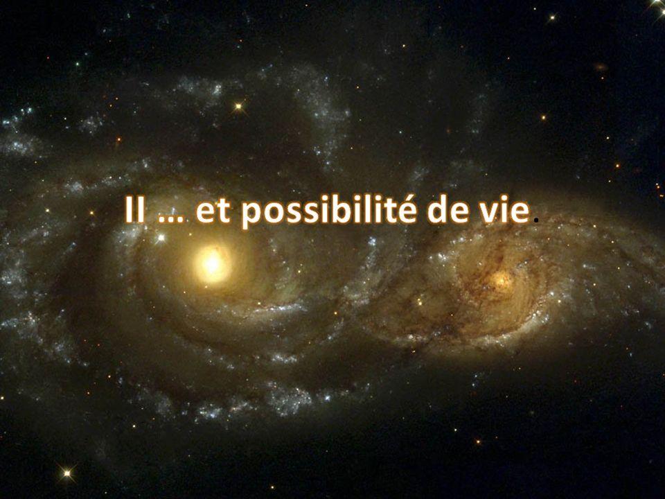 II … et possibilité de vie.