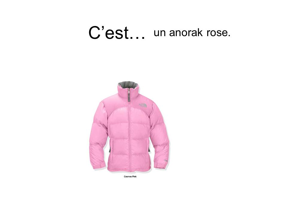 C'est… un anorak rose.