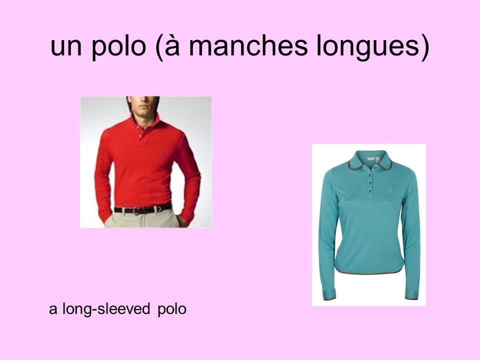 un polo (à manches longues)