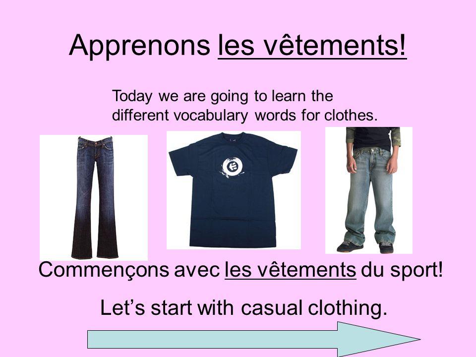 Apprenons les vêtements!