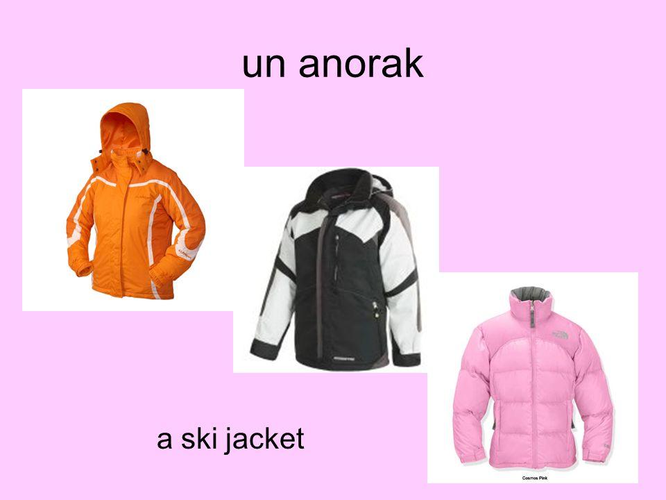 un anorak a ski jacket