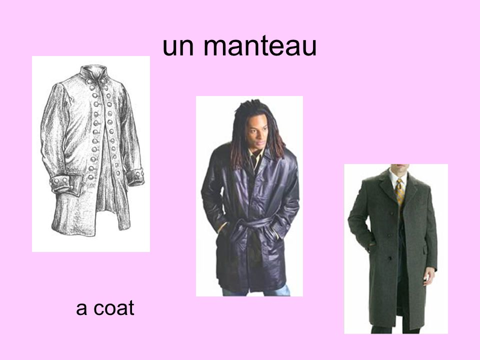 un manteau a coat