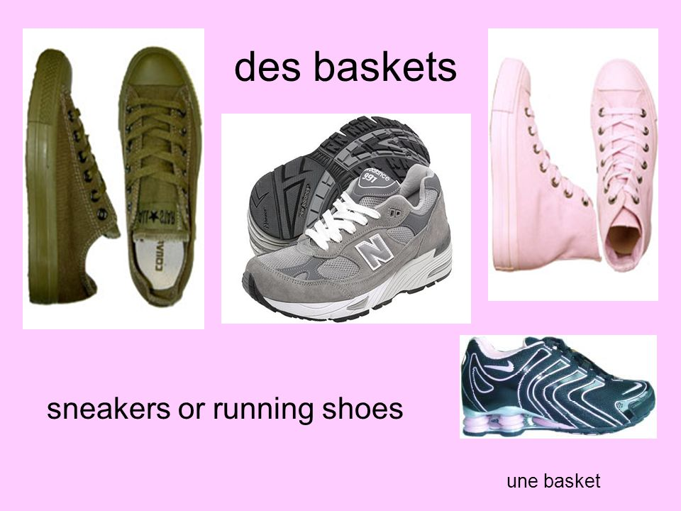 des baskets sneakers or running shoes une basket