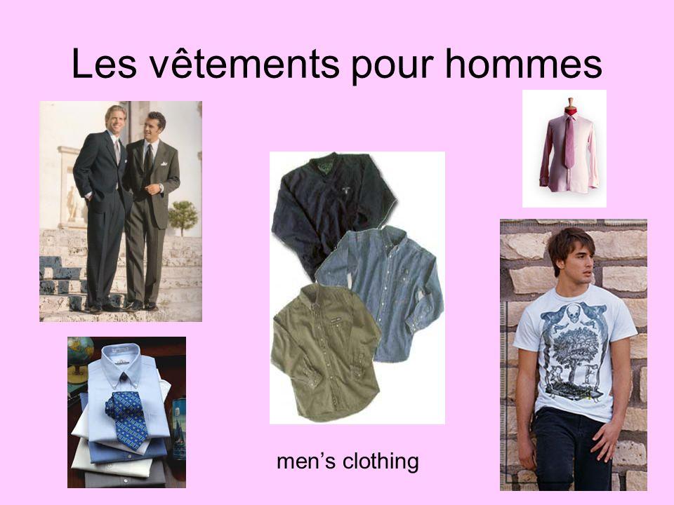 Les vêtements pour hommes