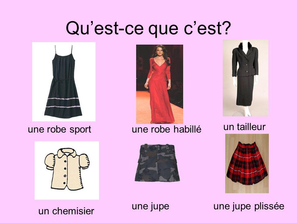 Qu'est-ce que c'est un tailleur une robe sport une robe habillé