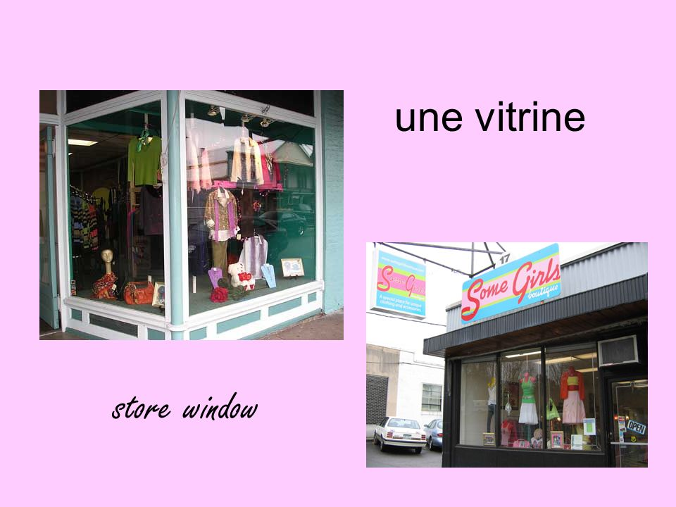 une vitrine store window