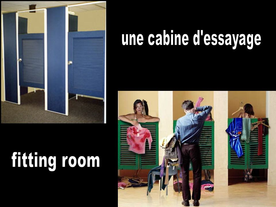 une cabine d essayage fitting room