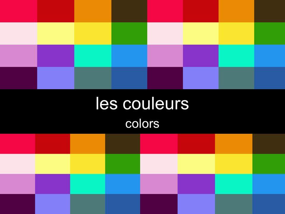 les couleurs colors