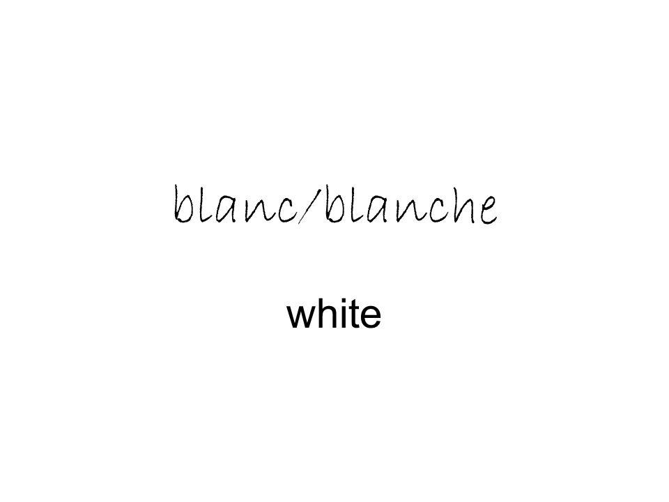 blanc/blanche white