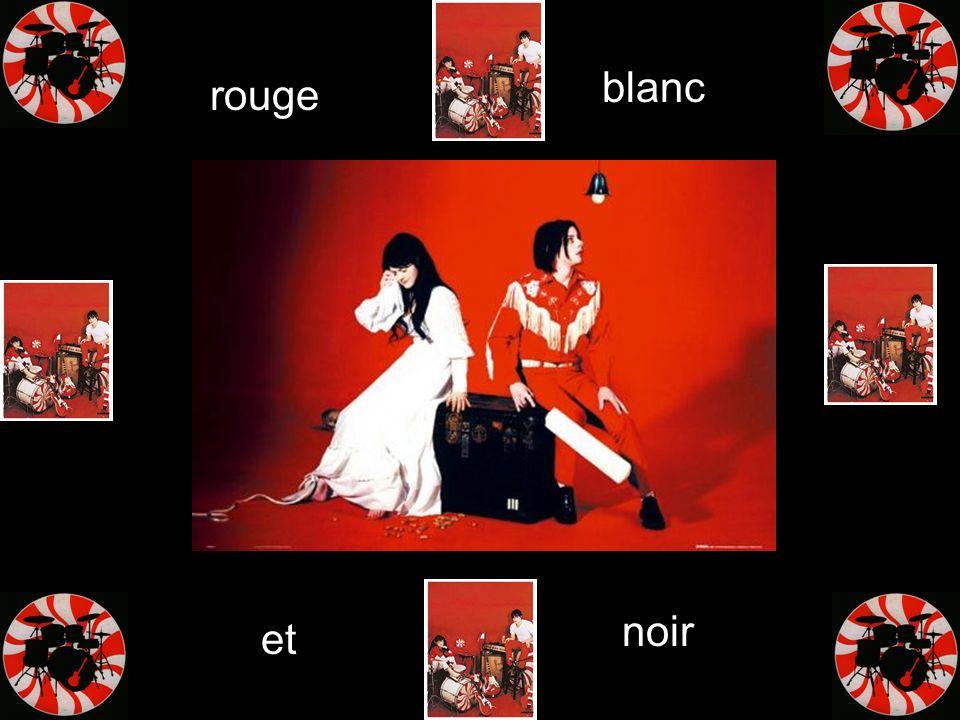 blanc rouge noir et