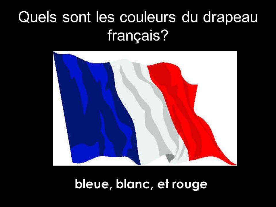 Quels sont les couleurs du drapeau français