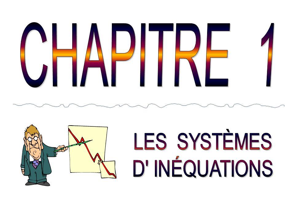 CHAPITRE 1 LES SYSTÈMES D INÉQUATIONS
