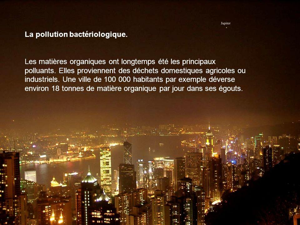 La pollution bactériologique.