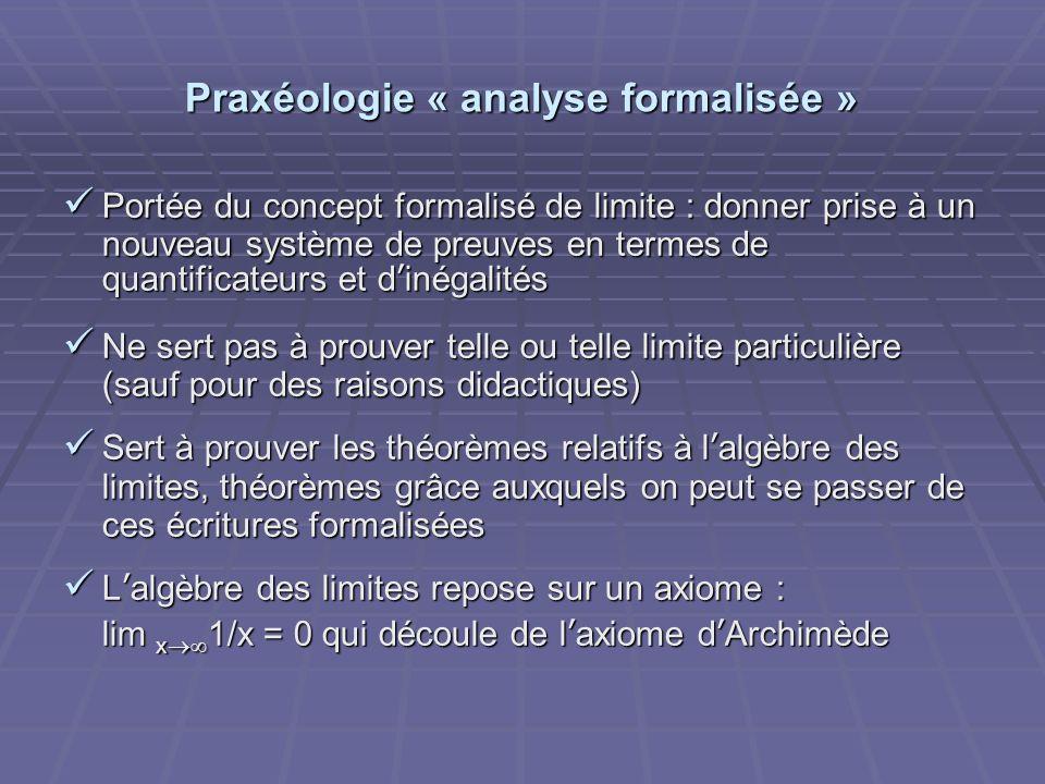 Praxéologie « analyse formalisée »