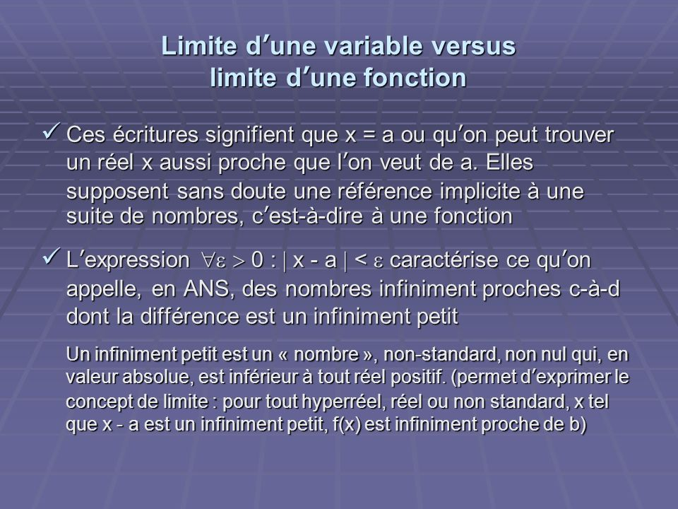 Limite d'une variable versus limite d'une fonction
