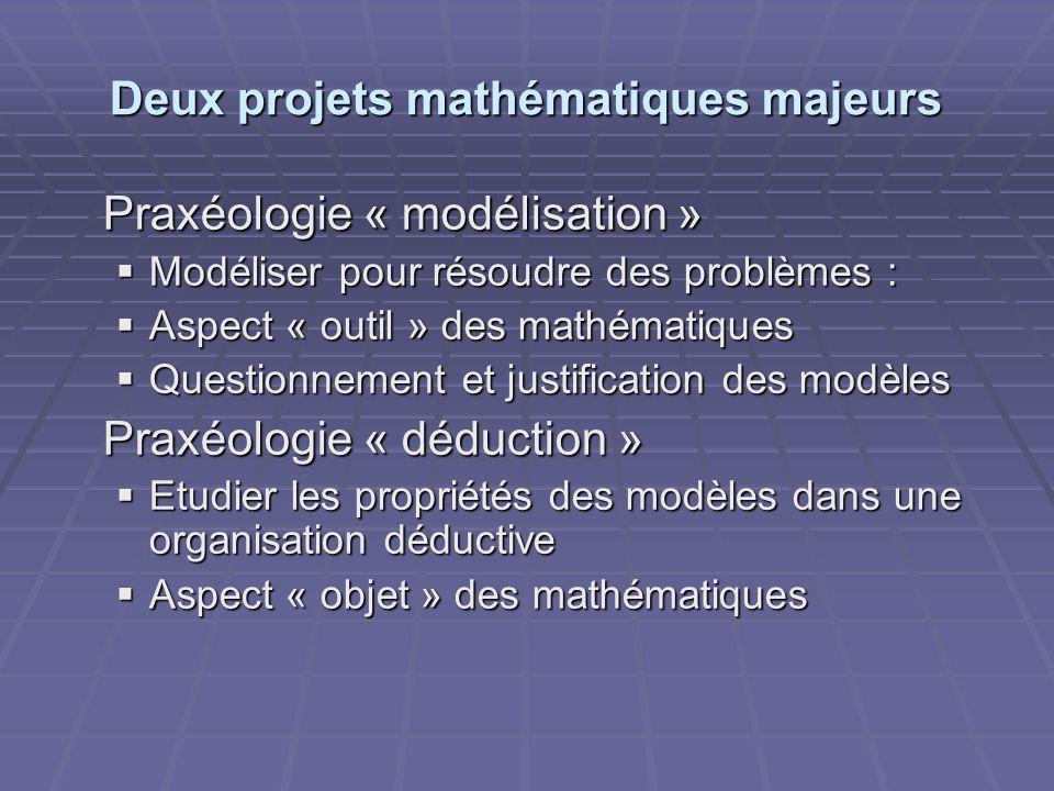Deux projets mathématiques majeurs
