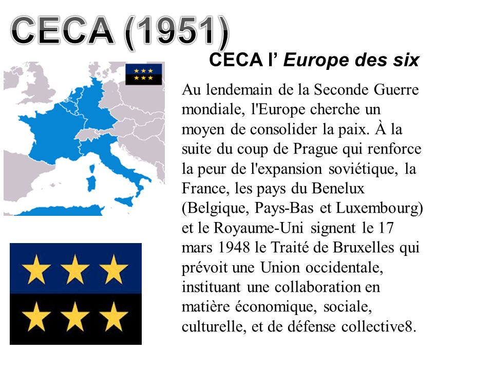 CECA (1951) CECA l' Europe des six