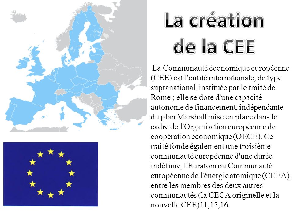 La création de la CEE