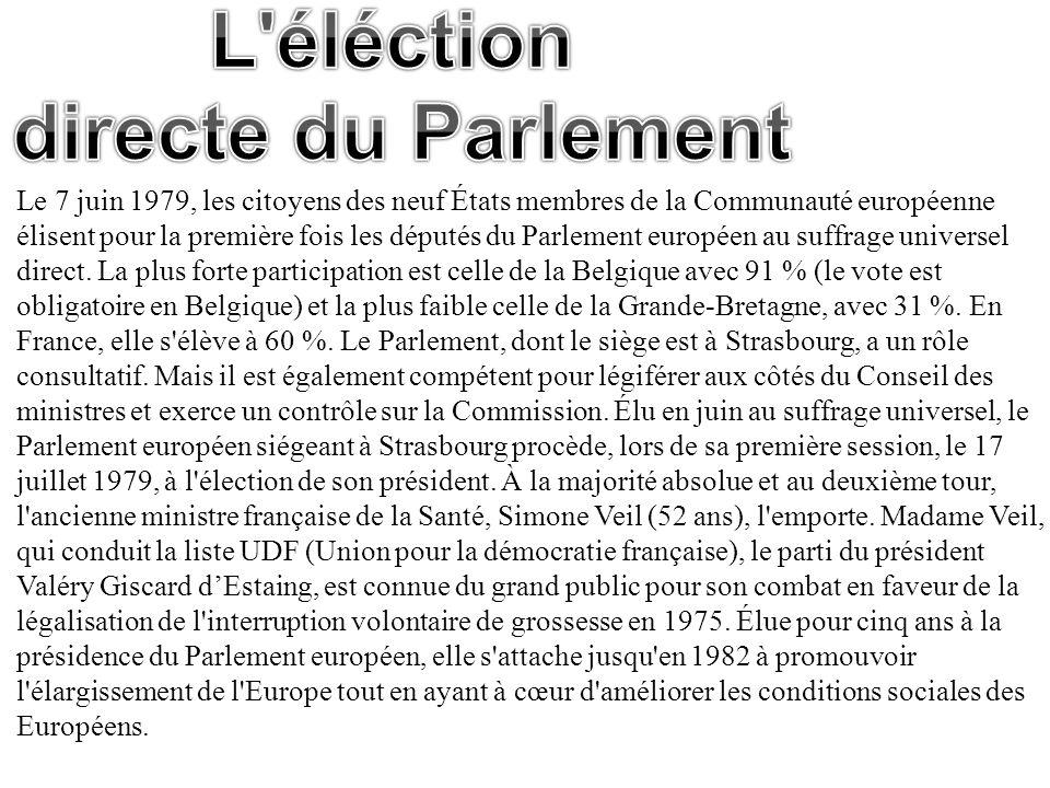 L éléction directe du Parlement