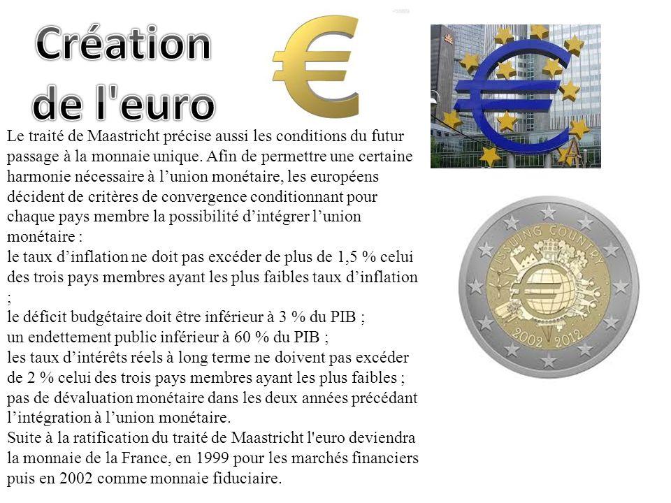 Création de l euro.