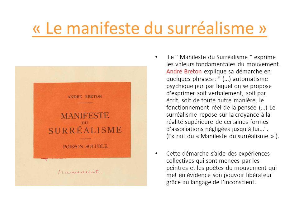 « Le manifeste du surréalisme »