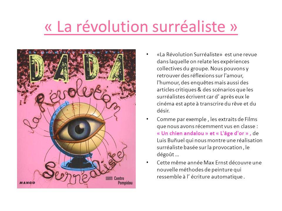 « La révolution surréaliste »