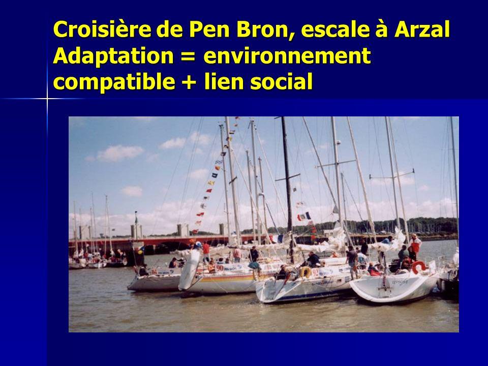 Croisière de Pen Bron, escale à Arzal Adaptation = environnement compatible + lien social