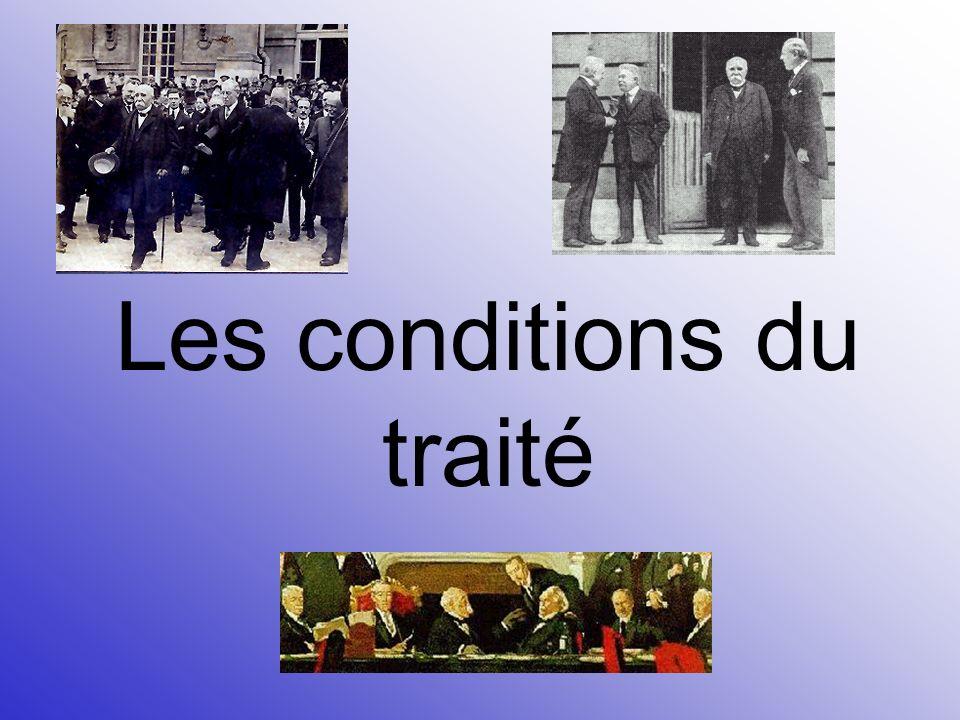 Les conditions du traité