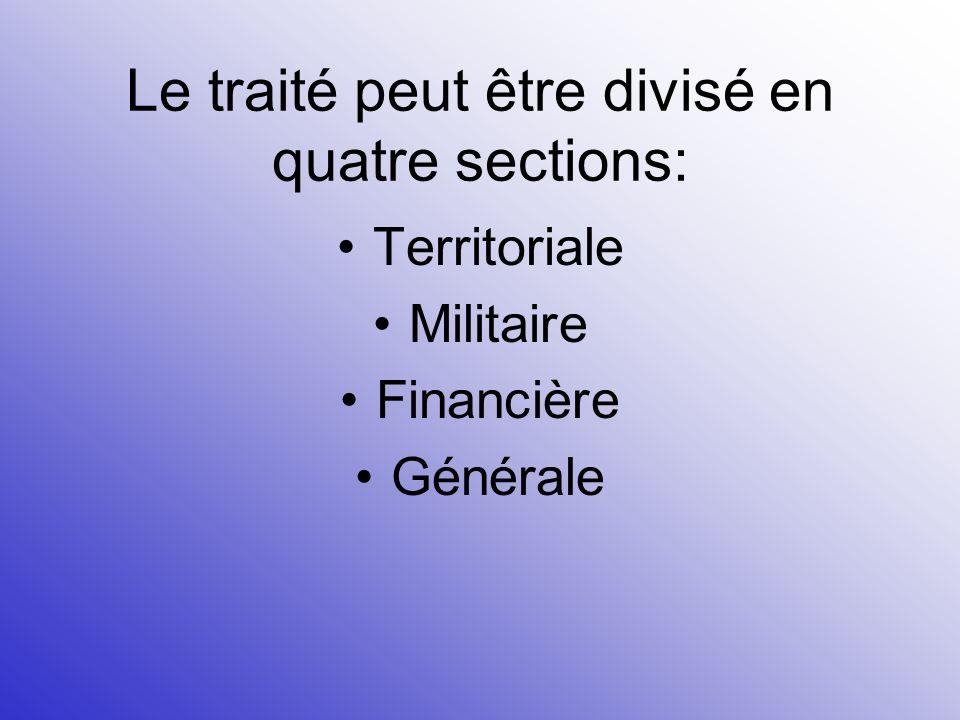 Le traité peut être divisé en quatre sections: