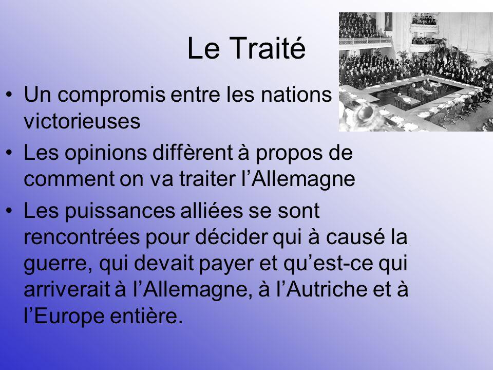 Le Traité Un compromis entre les nations victorieuses
