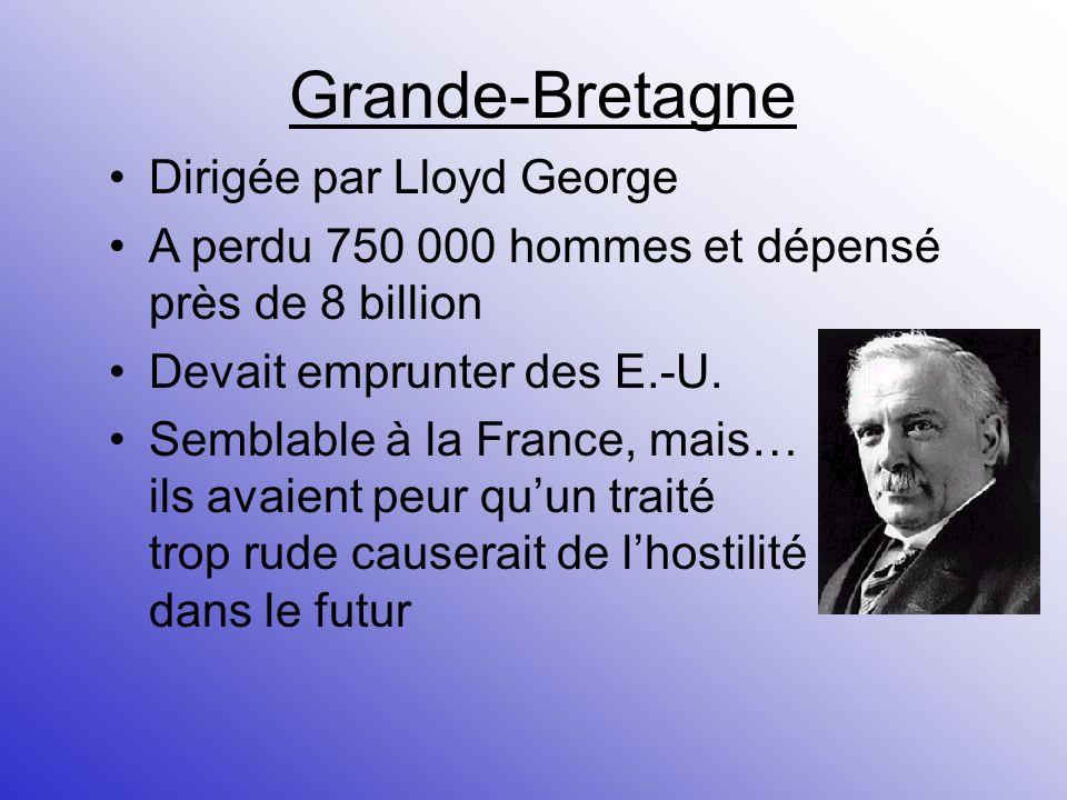 Grande-Bretagne Dirigée par Lloyd George