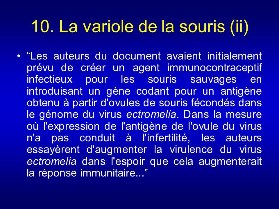 10. La variole de la souris (ii)