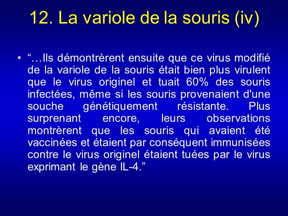 12. La variole de la souris (iv)