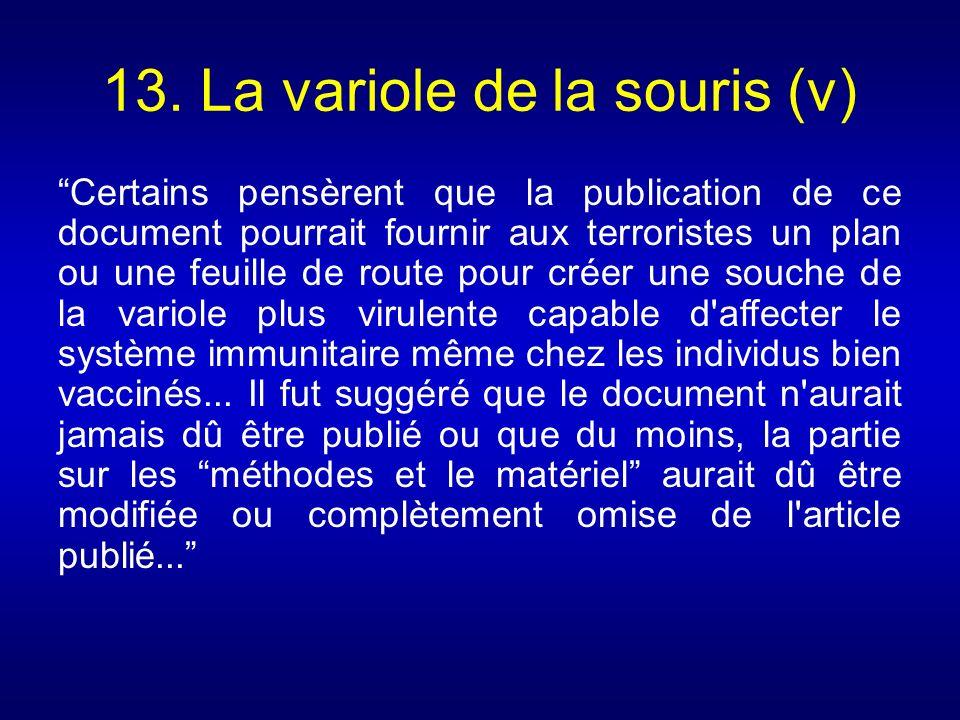 13. La variole de la souris (v)