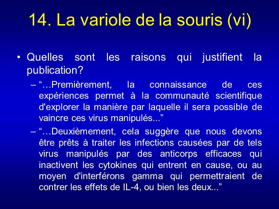 14. La variole de la souris (vi)