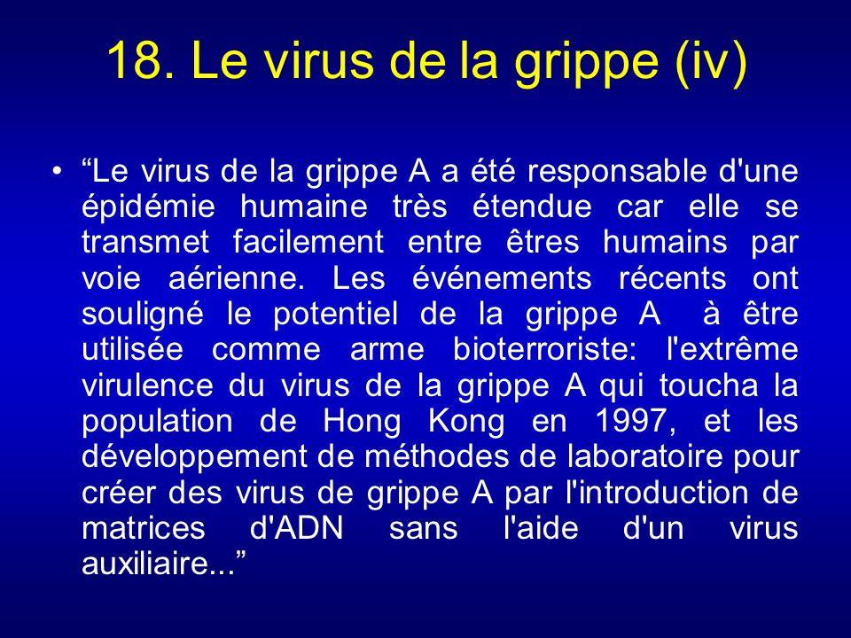 18. Le virus de la grippe (iv)