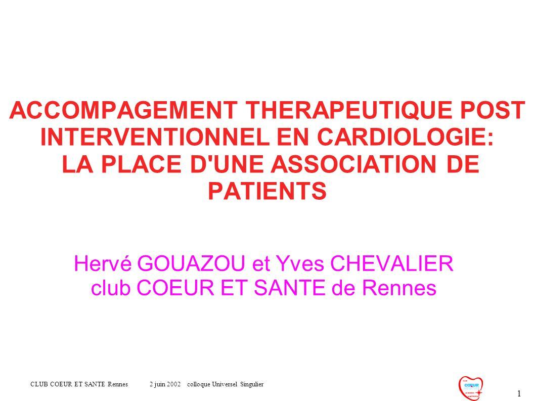 Hervé GOUAZOU et Yves CHEVALIER club COEUR ET SANTE de Rennes