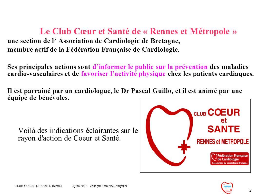 Le Club Cœur et Santé de « Rennes et Métropole »