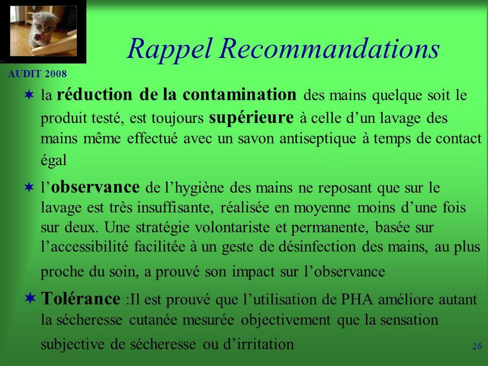 Rappel Recommandations