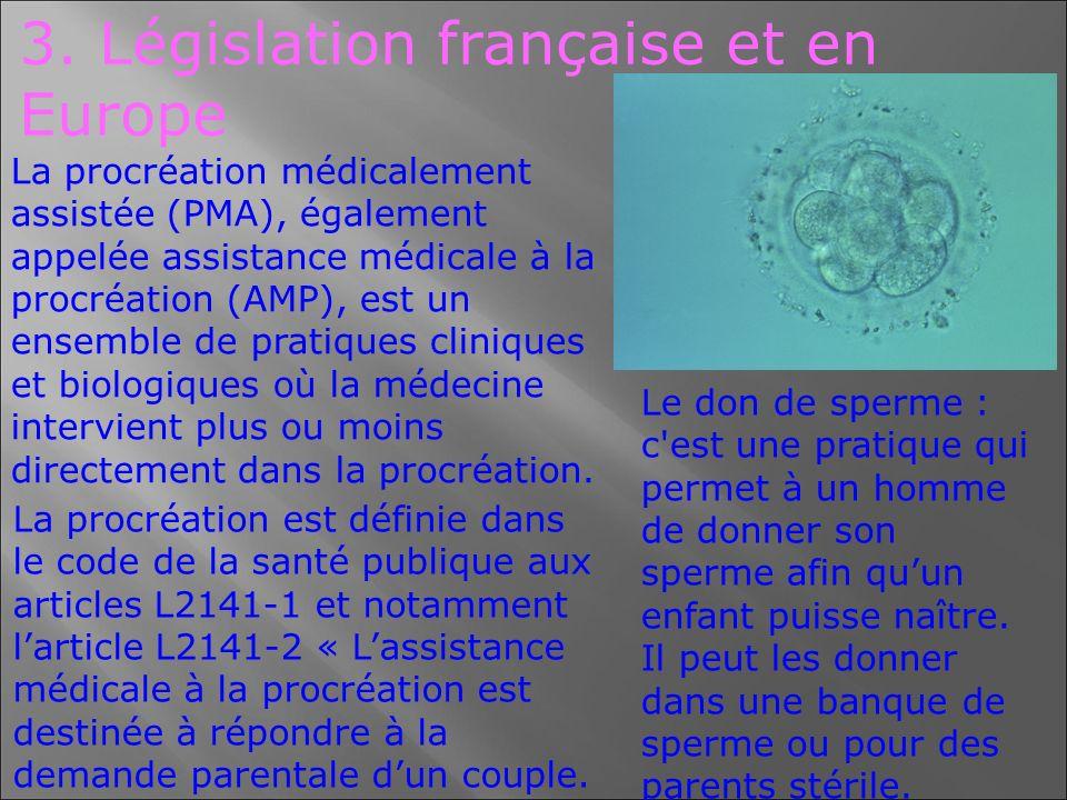 3. Législation française et en Europe