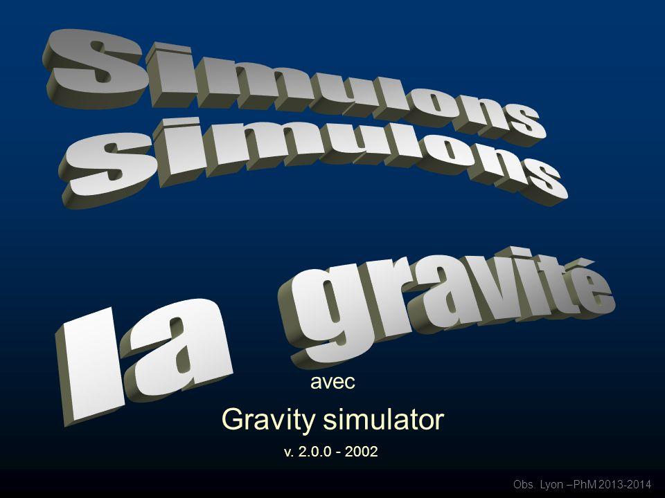 avec Gravity simulator
