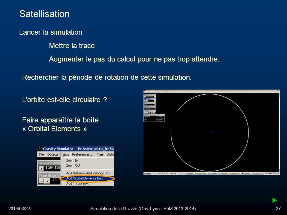Simulation de la Gravité (Obs. Lyon - PhM 2013-2014)