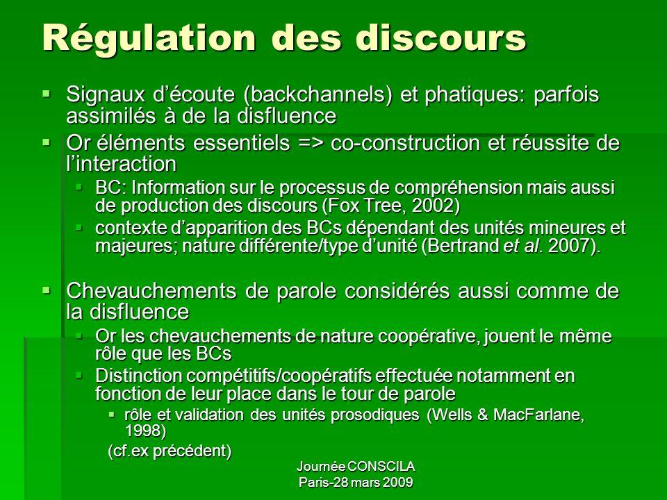 Régulation des discours